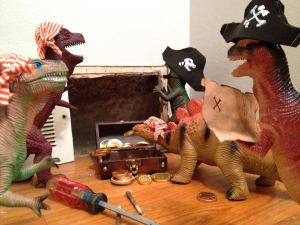 The Dinosaurs are up to mischief again. From: http://dinovember.tumblr.com/